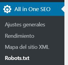 robots.txt en all in one seo